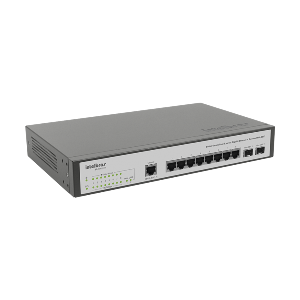 SG 1002 MR - Switch Gerenciável 8 portas Gigabit Ethernet