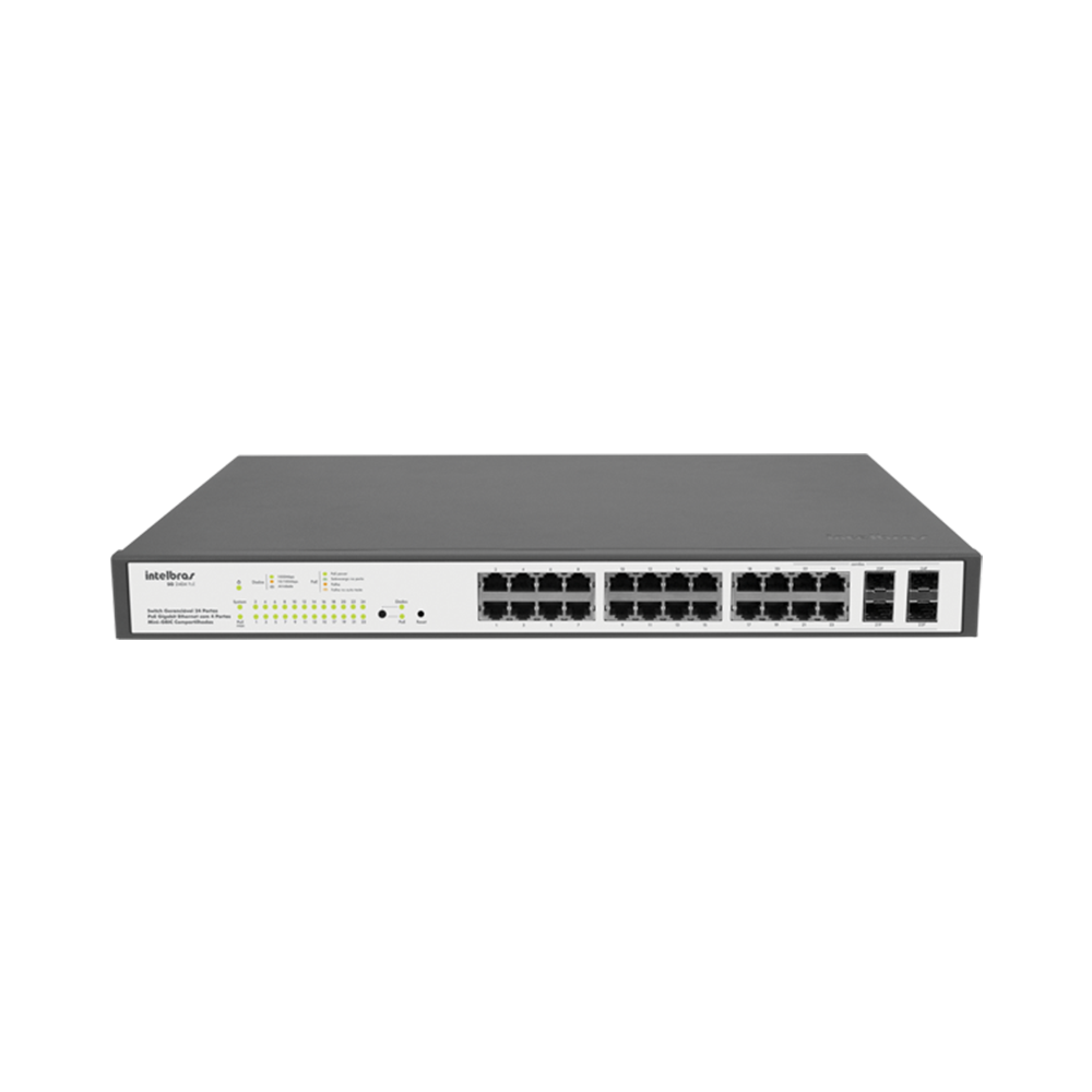 SG 2404 PoE - Switch gerenciável 24 portas Gigabit Ethernet